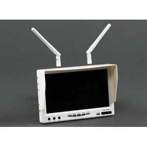 RX-LCD5802 White Edition 32ch Diversity 5.8GHz FPV Monitor with Built in Battery and OSD