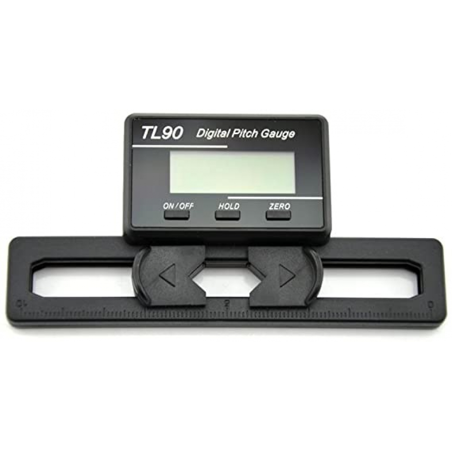 TL90 LCD Display Digital Pitch Gauge Screw Pitch Gauge with Gyro Sensor for RC Airplane Helicopter ST250-800 Size