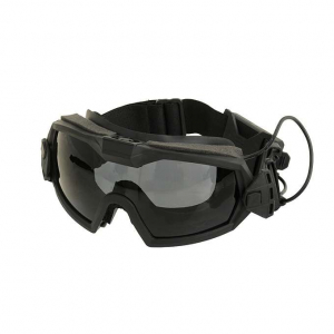 PROTECTIVE GOGGLE MOD.2 WITH BUILT-IN ANTI-FOG FAN - BLACK [FMA]