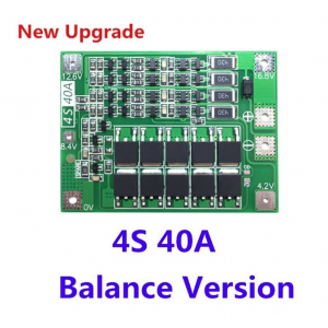 BMS 4S 40A Lithium Battery Protection Board with Balance Enhance version 18650 lithium Battery Charger PCB BMS protection board