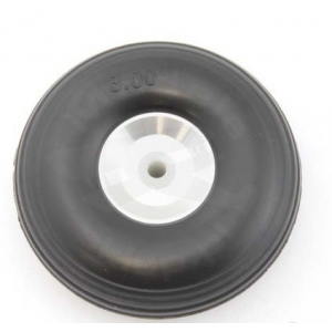 Rubber wheel 76 mm (aluminium rim and PTFE hub)