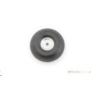 Rubber wheel with alu rim and Teflon hub 57 mm
