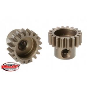 M0.6 Pinion - Short - Hardened Steel - 18 Teeth - Shaft Dia. 3.17mm