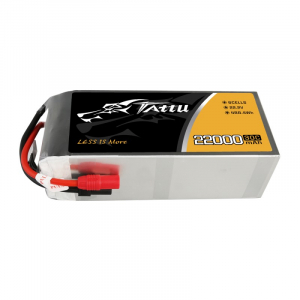 Tattu 22000mAh 22.2V 30C 6S1P Lipo Battery Pack with AS150+XT150 Plug