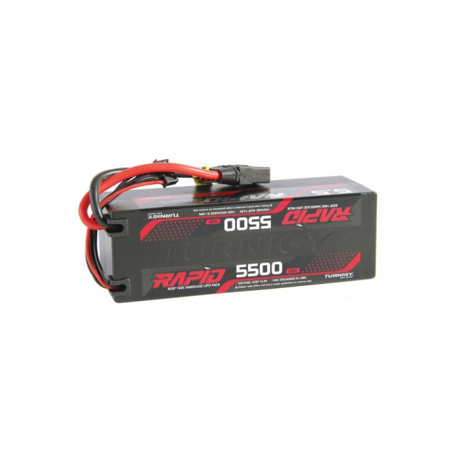 Turnigy Rapid 5500mAh 4S2P 140C Hardcase LiPo Battery Pack w/XT90 Connector (ROAR Approved)