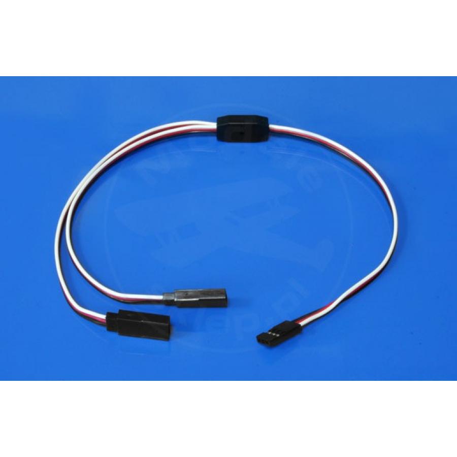 Y - splitter cable 30 cm (FUTABA) - 0.13mm2 26AWG - flat - MSP