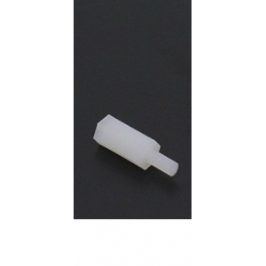 5.6mm x 18mm M3 Nylon Threaded Spacer 1vnt