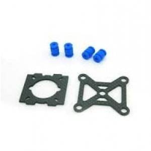 250 Quadcopter Frame Kit Pure Carbon Fiber Parts - Two Small Mounting Plate And Shock Absorption Balls