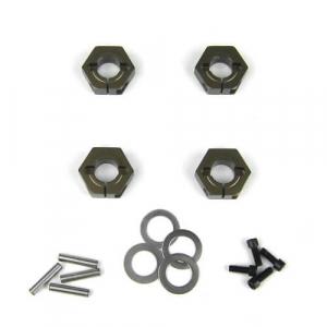 Tekno RC 12mm Aluminum M6 Driveshaft Hex Adapter Set (4)