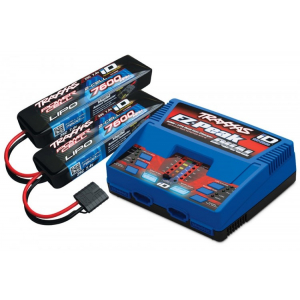 Charger EX-Peak Dual 8A och 2 x 2S 7600mAh Battery Combo