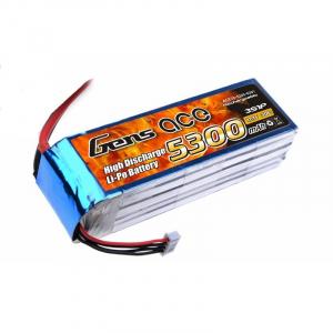 Gens Ace 5300mAh 11.1V 30C 3S1P Lipo akumuliatorius