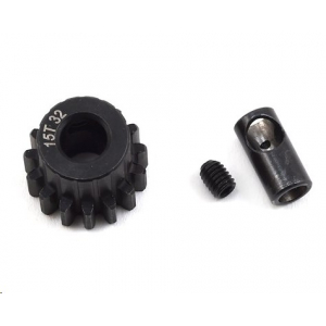 ProTek RC Steel 32P (15T) Pinion Gear w/3.17mm Reducer Sleeve (Mod .8) (5mm Bore)