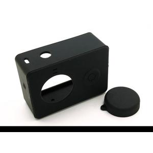 Silikoninis apsauginis dėklas ir objektyvo dangtelis, skirtas Xiaoyi veiksmo kamerai (juodas)