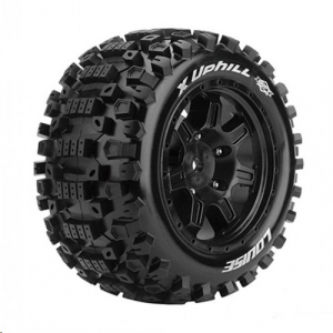 Louise T3297B RC X-Uphill X-Maxx Complete Wheels (Rim Black) 24mm Receptacle