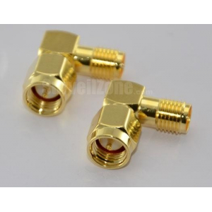 SMA Plug to RP SMA Jack L Type Adapter for Antenna