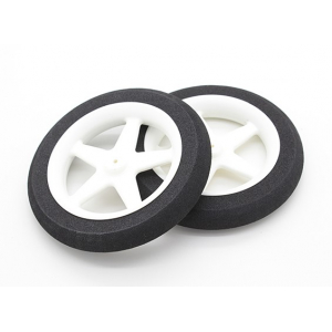 Light Foam Wheel 5 spoke (Diam: 80mm, Width 13mm)