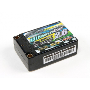 Turnigy nano-tech Ultimate 2600mah 2S2P 90C Hardcase Lipo Super Shorty Pack (ROAR Approved)