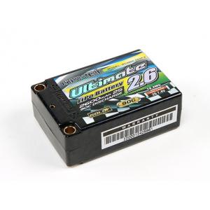 Turnigy nano-tech Ultimate 2600mah 2S2P 90C Hardcase Lipo akumuliatoirų automodeliui Super Shorty paketas (ROAR Approved)