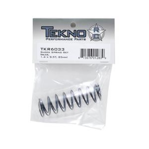 Tekno RC 85mm Rear Shock Spring Set (Orange) (1.4 x 9.5T) (2) TKR6033