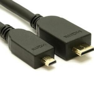 Micro HDMI to Mini HDMI Cable