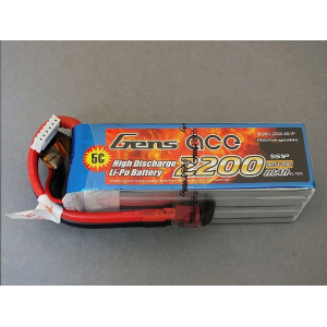 Gens ace 2200mAh 18.5V 25C 5S1P Lipo Battery Pack