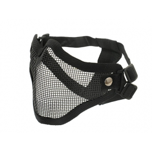 STEEL PROTECTIVE HALF FACE MASK V.1 - BLACK [CS]