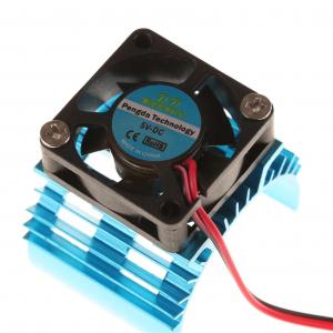 Motor Heat Sink w/Fan Blue Aluminum (30mm)
