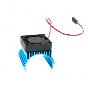 Blue 42mm Aluminium Heat Sink with 5VDC Fan for 1/8 Buggy Motor