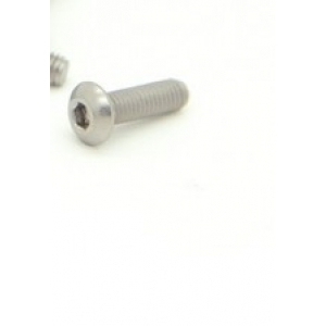 Titanium M3 x 10mm Dome Head Hex Screw