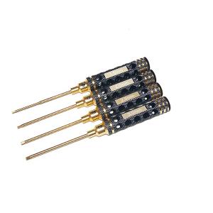 Allen Hex Socket Driver Set 1.5/2/2.5/3mm (Germany imported High Speed Steel, Nano-Titanium plating)