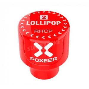 Foxeer Lollipop 2 Stubby 5.8G Omni Antenna(2pcs) Raudona RHCP
