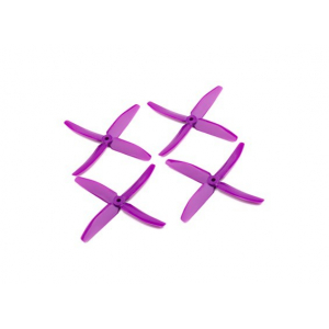 """Dalprops """"Indestructible"""" PC 5040 4-Blade Props Purple (CW/CCW) (2 pairs)"""