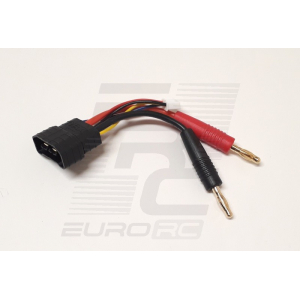 EuroRC Traxxas ID Male To 4mm Bullet + XH - 3S - Charging Cable 5cm 14AWG
