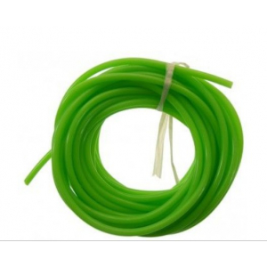 Silikoninė kuro žarna žalia skirta kurui. 2.5mm / 5.3mm 1m
