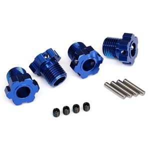 Traxxas 17mm Splined Wheel Hub Hex (Blue) (4)