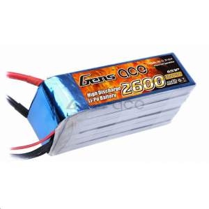 Gens ace 2600mAh 22.2V 45C 6S1P Lipo Battery Pack