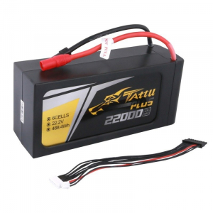 Tattu Plus 22000mAh 22.2V 25C 6S1P Lipo Battery Pack with AS150+XT150 plug