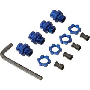 Traxxas 6856X: Alum/Aluminum 17-mm/17mm Wheel Hubs (4) Blue