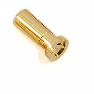 5mm Male Gold Plated Spring Connector - Low Profile