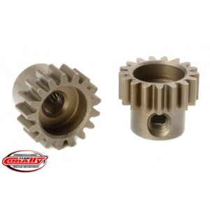 M0.6 Pinion - Short - Hardened Steel - 17 Teeth - Shaft Dia. 3.17mm