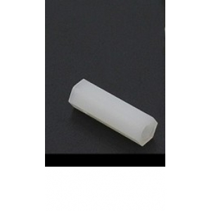 5.6mm x 18mm M3 Nylon Tapped Spacer