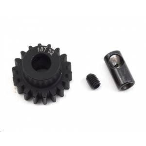 ProTek RC Steel 32P (18T) Pinion Gear w/3.17mm Reducer Sleeve (Mod .8) (5mm Bore)