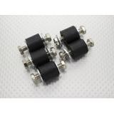 Anti Vibration Rubber Mounting Blocks - M6 x D18 x H16mm - (5pc)