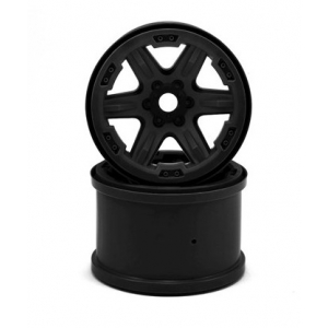 "Traxxas 17mm Splined Hex 3.8"" Monster Truck Wheels (Black) (2)"