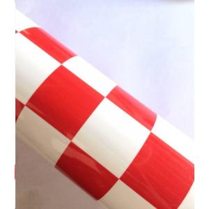 Dengimo plėvelė (languota raudona+balta)(600mm*1meter)