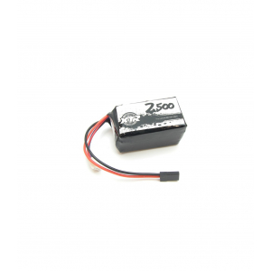 LIPO SQUARE RECEIVER BATTERY 7.4 2500 Mah 31X31X55