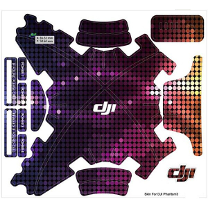Waterproof sticker/ Skin Set for DJI Phantom 3 - Neon Blaze