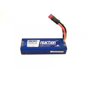 Reaction 7.4V 6400mAh 2S 80C LiPo, Hardcase: EC3