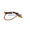RF MMCX Male Right Angle Switch SMA Female Pigtail Cable RG1...