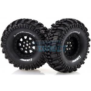 "Louise 1.9"" CR Champ Tyres on Black 9 Spoke Rims - Glued Wheels 2 Pcs"